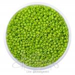 ลูกปัดเม็ดทราย 12/0 โทนด้าน สีเขียวตอง (15 กรัม)