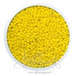 ลูกปัดเม็ดทราย 12/0 โทนด้าน สีเหลือง (15 กรัม)