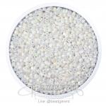 ลูกปัดเม็ดทราย 12/0 โทนมุกด้าน สีขาว (15 กรัม)