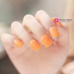 เล็บปลอม เกาหลี แฟชั่น Light Orange