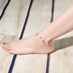 สร้อยข้อเท้าเกาหลีประดับลายไม้กางเขน