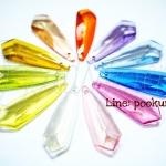 จี้อะคริลิค ลายดาบ สีใส (15 กรัม)