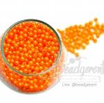 ลูกปัดมุกพลาสติก 4มิล สีส้ม (450 กรัม)