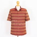 เสื้อสูทผ้าฝ้ายลายมัดหมี่สุโขทัย สีแดง ไซส์ L
