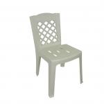 เก้าอี้พนักพิง สีขาว