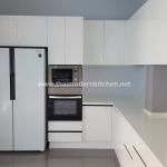 3.68 ตู้บน+ล่าง / 0.7 ตู้เต็มสูง 220 cm / 1.2 ตู้บนเหนือตู้เย็น /Counter 2 ระดับ 2.2×0.7