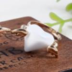 แหวนเกาหลีหัวใจติดปีกมี (สีขาว)
