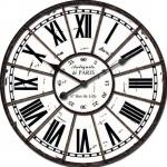 นาฬิกาแขวนผนังวินเทจ กรอบโลหะ เรือนใหญ่