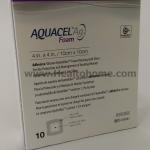 D014 Aquacel Ag Foam Adhesive แผ่นแปะแผลกดทับ 10x10 ซม. x10 ชิ้น (ยกกล่อง)