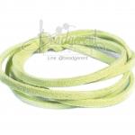 เชือกหนังซามัวร์ 3มม. สีเขียวมะนาว (1 หลา)