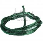 เชือกหางหนู 2มม. สีเขียวเข้ม (1 หลา)