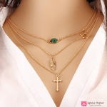 สร้อยคอ Multilayer accessories cross chain