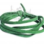เชือกหนังซามัวร์ 3มม. สีเขียวสด (1 หลา)