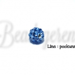 ลูกปัดฝังเพชร 8มม. สีน้ำเงินจืด (1 ชิ้น)