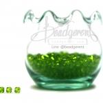 คริสตัลพลาสติก 4มิล สีเขียว (500 กรัม)