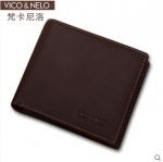 กระเป๋าสตางค์หนังแท้ Vico&Nelo 004 [สีน้ำตาลเข้ม]