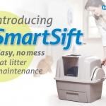 ห้องน้ำแมวรุ่น Smart Sift แบบคันโยกไม่ต้องตัก ทำความสะอาดได้ง่าย มีตัวกรองกลิ่นคาร์บอน