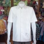 เสื้อสูทไหมแพรทอง สีขาวนวล ไซส์ XL