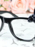 แว่นตาแฟชั่นเกาหลี กระต่ายดำ (ไม่มีเลนส์)