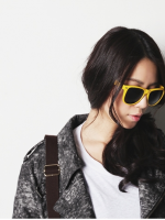 แว่นตากันแดดแฟชั่นเกาหลี สีเหลือง