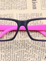 แว่นตาแฟชั่นเกาหลี สีดำชมพูเข้ม (ไม่มีเลนส์) (ของจริงสีชมพูเข้มกว่าในภาพคะ)