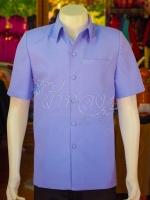 เสื้อสูทผ้าฝ้ายผสม สีม่วงอ่อน ไซส์ XL