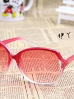 แว่นตากันแดดแฟชั่นเกาหลี กรอบแดงขาว