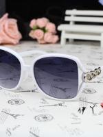 แว่นตากันแดดแฟชั่นเกาหลี โซ่แฟชั่นสีขาว