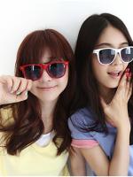 แว่นตากันแดดแฟชั่นเกาหลี สีขาว