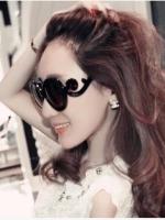 แว่นตากันแดดแฟชั่นเกาหลี สีดำ