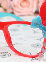แว่นตาแฟชั่นเกาหลี กระต่ายฟ้าแดง (ไม่มีเลนส์)