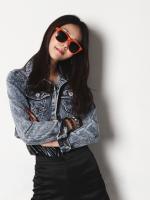 แว่นตากันแดดแฟชั่นเกาหลี สีแดง