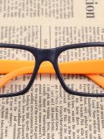 แว่นตาแฟชั่นเกาหลี สีดำส้ม (ไม่มีเลนส์) (ของจริงสีส้มเข้มกว่าในภาพคะ)