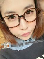 แว่นตาแฟชั่นเกาหลี กรอบสี่เหลี่ยมวงกลมสีน้ำตาลเสือดาว (ไม่มีเลนส์)