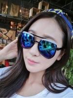 แว่นตาแฟชั่นเกาหลี เลนส์ปรอทสีน้ำเงิน