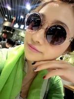 แว่นตากันแดดแฟชั่นเกาหลี กรอบแฟชั่นสีชา