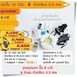 ชุดปั๊ม 12 VDC 8 หัวเกลียว 0.3 mm