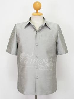 เสื้อสูทไหมแพรทอง สีเทาเงิน ไซส์ M