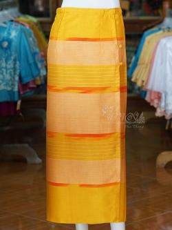 ผ้าถุงป้าย ลายศิลามณี สีเหลือง เอว 32 นิ้ว