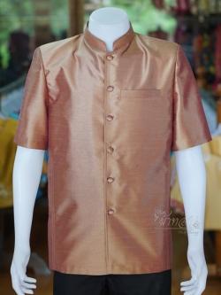 เสื้อสูทไหมแพรทองคอพระราชทาน ไซส์ S
