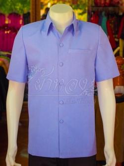เสื้อสูทผ้าฝ้ายผสม สีม่วงอ่อน ไซส์ L