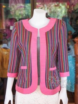 เสื้อคลุมผ้ามุกสายรุ้ง ไซส์ XL