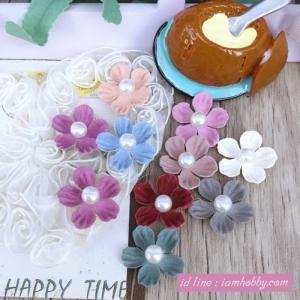 ดอกไม้ตกแต่งมุก 2 cm. คละสี (10 ชิ้น)