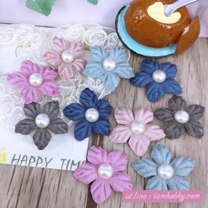ดอกไม้ตกแต่งมุก 3 cm. คละสี (10 ชิ้น)
