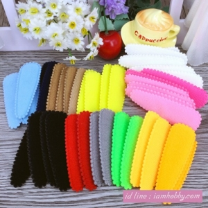 ปลอกผ้าสำหรับตกแต่งกิ๊บ คละสี (40 ชิ้น)