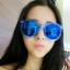 แว่นตากันแดดแฟชั่นเกาหลี กรอบฟ้าใส เลนส์ปรอทสีน้ำเงิน thumbnail 1