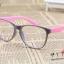 แว่นตาแฟชั่นเกาหลี สีเทาชมพู (ไม่มีเลนส์) thumbnail 1