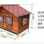 บ้านสุนัขแบบ 2 ห้องนอน ประตูและหน้าต่างมีกันสาดกระจกสำหรับกันลมฝน หลังคาเปิดได้ พื้นถอดได้ มีหลายขนาด thumbnail 23