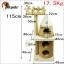 หอคอยแมวน้อยระดาษคราฟท์ คอนโดแมว บันได บ้านอุโมงค์แมว ที่ปีนออกกำลังกาย ความสูง: 115 เซนติเมตร thumbnail 5