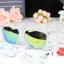 แว่นตากันแดดแฟชั่นเกาหลี กรอบขาวใสเลนส์ปรอททอง thumbnail 2